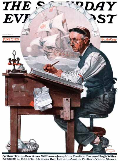 Roaring 1920s Norman Rockwell Saturday Evening Post 1924_06_07 | Roaring 1920s Ad Art and Magazine Cover Art