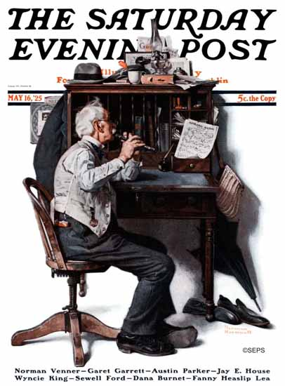 Roaring 1920s Norman Rockwell Saturday Evening Post 1925_05_16 | Roaring 1920s Ad Art and Magazine Cover Art
