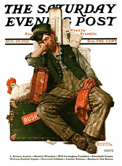 Roaring 1920s Norman Rockwell Saturday Evening Post 1925_08_29 | Roaring 1920s Ad Art and Magazine Cover Art