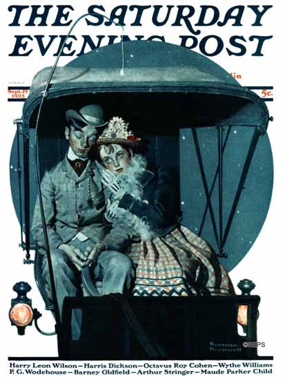 Roaring 1920s Norman Rockwell Saturday Evening Post 1925_09_19 | Roaring 1920s Ad Art and Magazine Cover Art