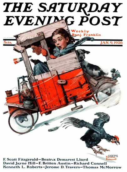 Roaring 1920s Norman Rockwell Saturday Evening Post 1926_01_09 | Roaring 1920s Ad Art and Magazine Cover Art