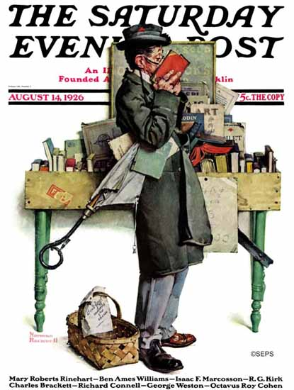 Roaring 1920s Norman Rockwell Saturday Evening Post 1926_08_14 | Roaring 1920s Ad Art and Magazine Cover Art