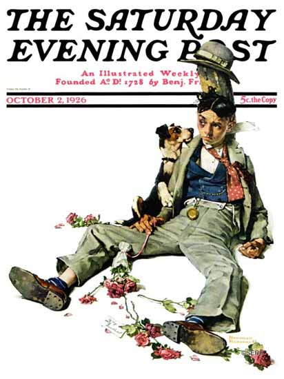 Roaring 1920s Norman Rockwell Saturday Evening Post 1926_10_02 | Roaring 1920s Ad Art and Magazine Cover Art
