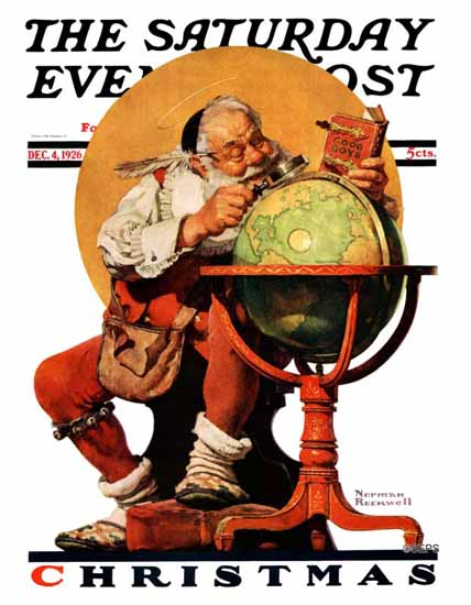 Roaring 1920s Norman Rockwell Saturday Evening Post 1926_12_04 | Roaring 1920s Ad Art and Magazine Cover Art