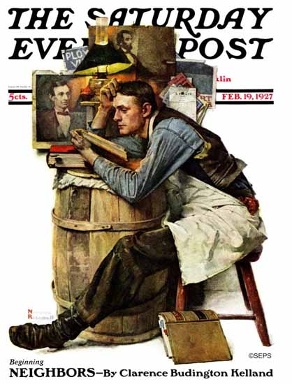Roaring 1920s Norman Rockwell Saturday Evening Post 1927_02_19 | Roaring 1920s Ad Art and Magazine Cover Art