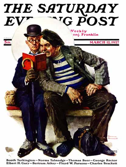 Roaring 1920s Norman Rockwell Saturday Evening Post 1927_03_12 | Roaring 1920s Ad Art and Magazine Cover Art