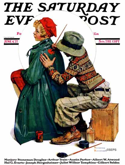 Roaring 1920s Norman Rockwell Saturday Evening Post 1927_06_04 | Roaring 1920s Ad Art and Magazine Cover Art
