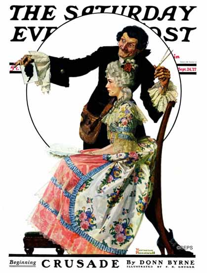 Roaring 1920s Norman Rockwell Saturday Evening Post 1927_09_24 | Roaring 1920s Ad Art and Magazine Cover Art
