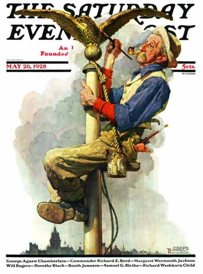 Roaring 1920s Norman Rockwell Saturday Evening Post 1928_05_26   Roaring 1920s Ad Art and Magazine Cover Art