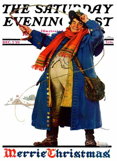 Roaring 1920s Norman Rockwell Saturday Evening Post 1929_12_07 | Roaring 1920s Ad Art and Magazine Cover Art