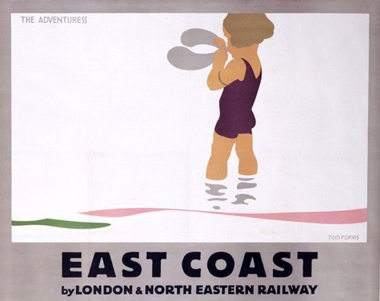 Roaring 1920s North Eastern Railway London East Coast 1928 | Roaring 1920s Ad Art and Magazine Cover Art