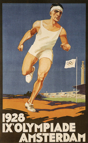 Roaring 1920s Olympiade Amsterdam 1928 Netherlands | Roaring 1920s Ad Art and Magazine Cover Art