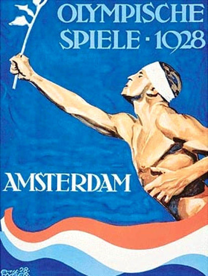 Roaring 1920s Olympische Spiele 1928 Amsterdam Olympics | Roaring 1920s Ad Art and Magazine Cover Art