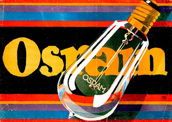 Roaring 1920s Osram Glühbirnen Bulbs Lucian Bernhard 1920 | Roaring 1920s Ad Art and Magazine Cover Art