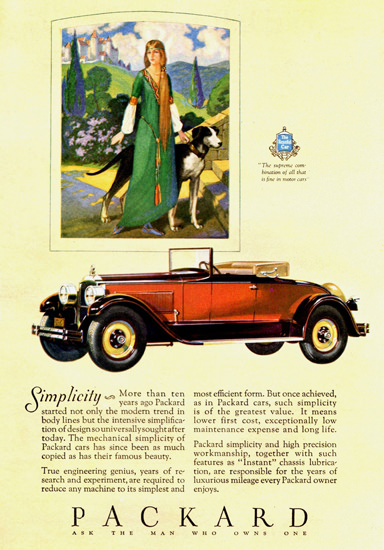 Roaring 1920s Packard Convertible Coupe 1927 | Roaring 1920s Ad Art and Magazine Cover Art