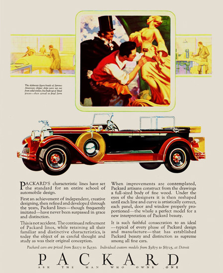 Roaring 1920s Packard Eight Phaeton 1928 | Roaring 1920s Ad Art and Magazine Cover Art