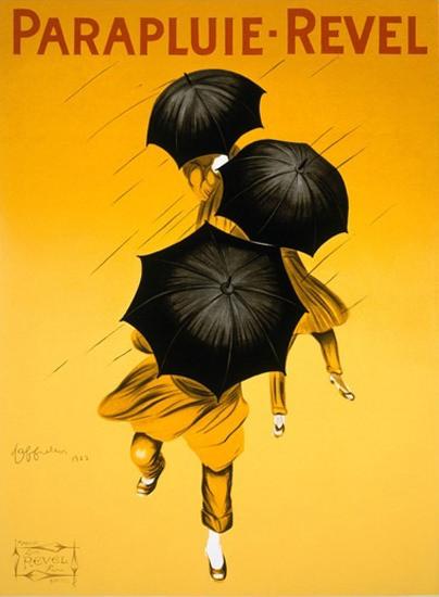 Roaring 1920s Parapluie Revel 1922 Umbrella Leonetto Cappiello | Roaring 1920s Ad Art and Magazine Cover Art