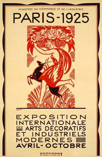 Roaring 1920s Paris 1925 Exposition Int Des Arts Decoratives | Roaring 1920s Ad Art and Magazine Cover Art