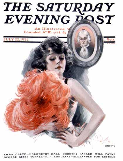 Roaring 1920s Paul Stahr Artist Saturday Evening Post 1922_07_22 | Roaring 1920s Ad Art and Magazine Cover Art