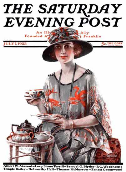 Roaring 1920s Pearl L Hill Artist Saturday Evening Post 1923_07_07 | Roaring 1920s Ad Art and Magazine Cover Art