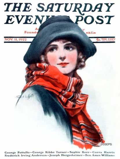 Roaring 1920s Pearl L Hill Saturday Evening Post 1922_11_11 | Roaring 1920s Ad Art and Magazine Cover Art