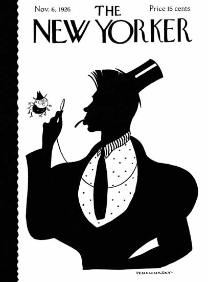 Roaring 1920s Penaninksky The New Yorker 1926_11_06 Copyright | Roaring 1920s Ad Art and Magazine Cover Art