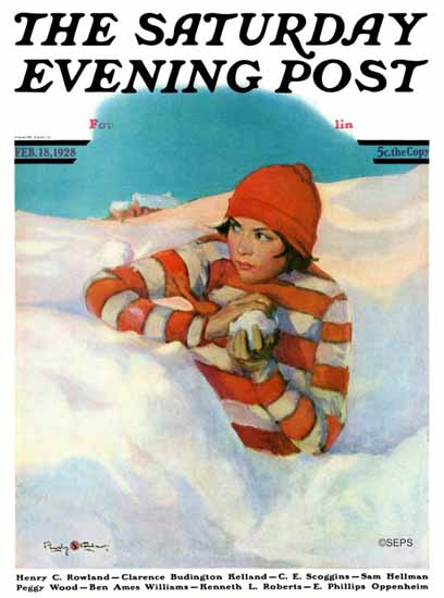 Roaring 1920s Penrhyn Stanlaws Artist Saturday Evening Post 1928_02_18 | Roaring 1920s Ad Art and Magazine Cover Art