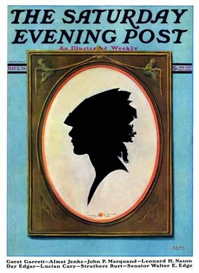 Roaring 1920s Penrhyn Stanlaws Artist Saturday Evening Post 1929_05_11 | Roaring 1920s Ad Art and Magazine Cover Art