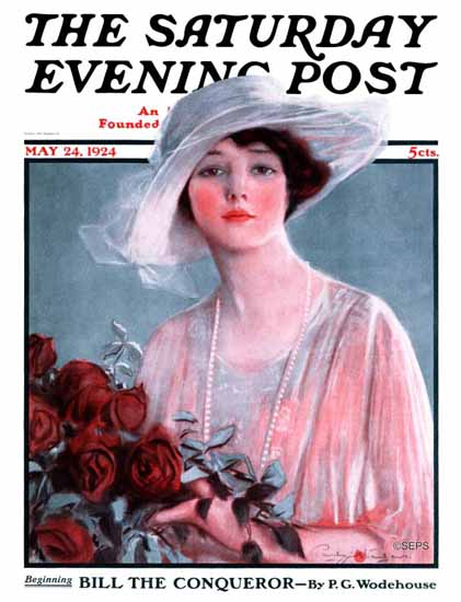 Roaring 1920s Penrhyn Stanlaws Saturday Evening Post 1924_05_24 | Roaring 1920s Ad Art and Magazine Cover Art