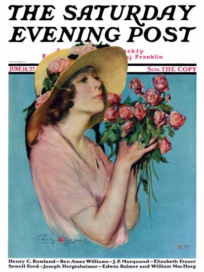 Roaring 1920s Penrhyn Stanlaws Saturday Evening Post 1927_06_18 | Roaring 1920s Ad Art and Magazine Cover Art