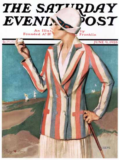Roaring 1920s Penrhyn Stanlaws Saturday Evening Post 1928_06_09 | Roaring 1920s Ad Art and Magazine Cover Art