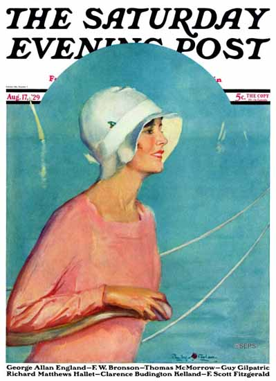 Roaring 1920s Penrhyn Stanlaws Saturday Evening Post 1929_08_17 | Roaring 1920s Ad Art and Magazine Cover Art