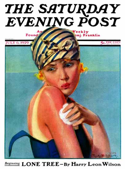 Roaring 1920s Penrhyn Stanlaws Saturday Evening Post Burn 1929_07_06 | Roaring 1920s Ad Art and Magazine Cover Art