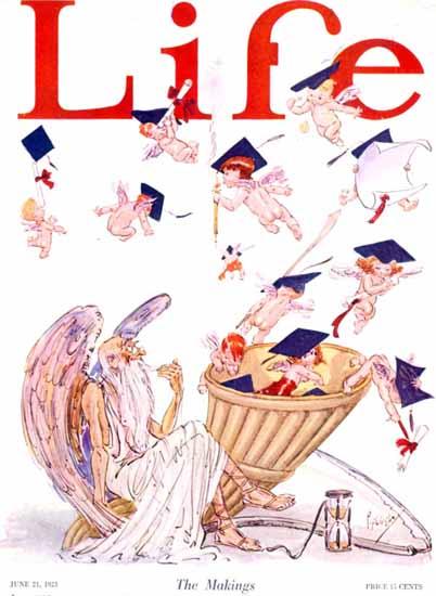 Roaring 1920s Percy L Crosby Life Humor Magazine 1923-06-21 Copyright | Roaring 1920s Ad Art and Magazine Cover Art