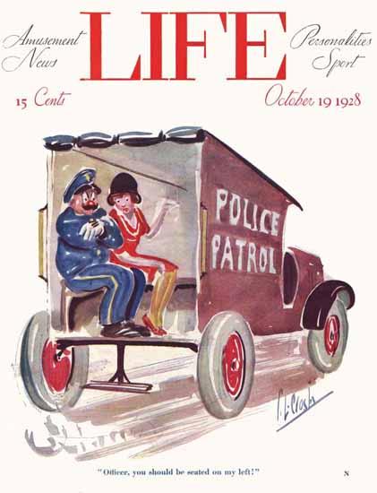 Roaring 1920s Percy L Crosby Life Humor Magazine 1928-10-19 Copyright | Roaring 1920s Ad Art and Magazine Cover Art