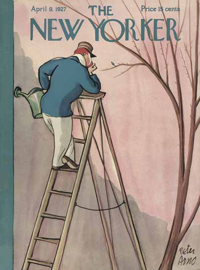 Roaring 1920s Peter Arno The New Yorker 1927_04_09 Copyright | Roaring 1920s Ad Art and Magazine Cover Art