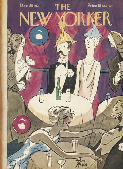 Roaring 1920s Peter Arno The New Yorker 1929_12_28 Copyright   Roaring 1920s Ad Art and Magazine Cover Art