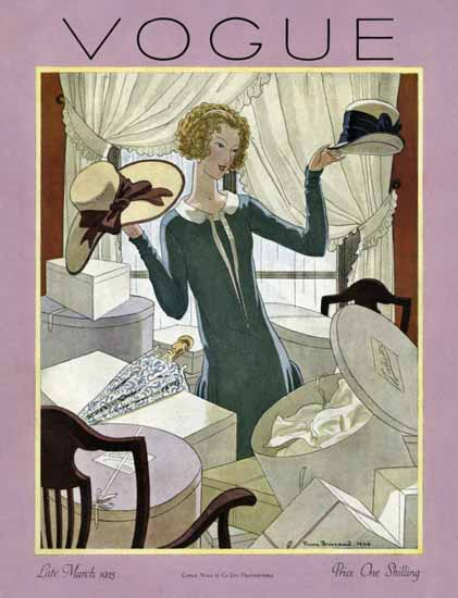 Roaring 1920s Pierre Brissaud Vogue Cover 1925-03-15 Copyright | Roaring 1920s Ad Art and Magazine Cover Art