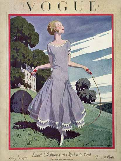 Roaring 1920s Pierre Brissaud Vogue Cover 1925-05-15 Copyright | Roaring 1920s Ad Art and Magazine Cover Art