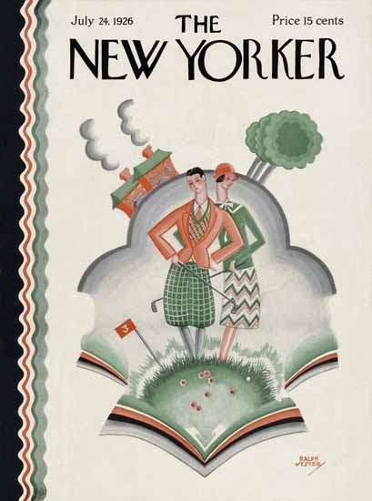 Roaring 1920s Ralph Jester The New Yorker 1926_07_24 Copyright | Roaring 1920s Ad Art and Magazine Cover Art