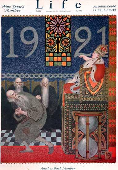 Roaring 1920s Rea Irvin Life Humor Magazine 1920-12-30 Copyright | Roaring 1920s Ad Art and Magazine Cover Art