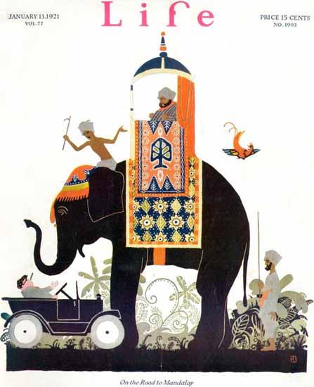 Roaring 1920s Rea Irvin Life Humor Magazine 1921-01-13 Copyright | Roaring 1920s Ad Art and Magazine Cover Art