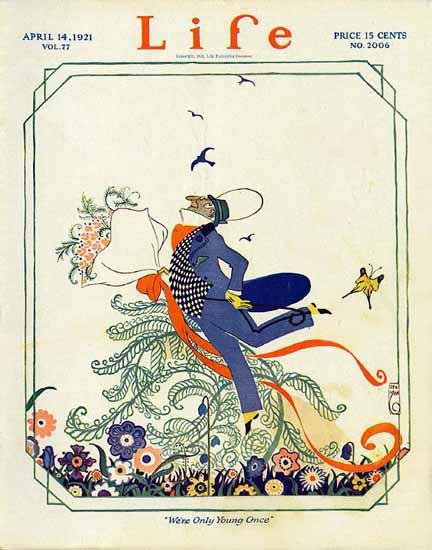 Roaring 1920s Rea Irvin Life Humor Magazine 1921-04-14 Copyright | Roaring 1920s Ad Art and Magazine Cover Art