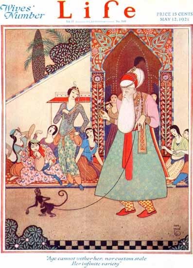 Roaring 1920s Rea Irvin Life Humor Magazine 1921-05-12 Copyright   Roaring 1920s Ad Art and Magazine Cover Art