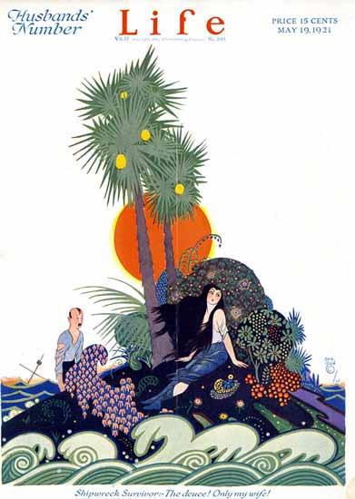 Roaring 1920s Rea Irvin Life Humor Magazine 1921-05-19 Copyright   Roaring 1920s Ad Art and Magazine Cover Art