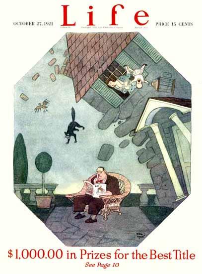 Roaring 1920s Rea Irvin Life Humor Magazine 1921-10-27 Copyright | Roaring 1920s Ad Art and Magazine Cover Art