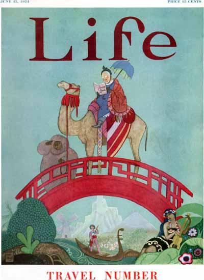 Roaring 1920s Rea Irvin Life Humor Magazine 1924-06-12 Copyright | Roaring 1920s Ad Art and Magazine Cover Art