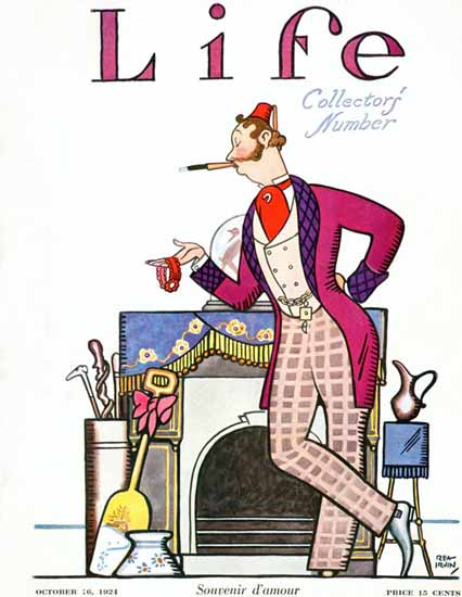 Roaring 1920s Rea Irvin Life Humor Magazine 1924-10-16 Copyright   Roaring 1920s Ad Art and Magazine Cover Art