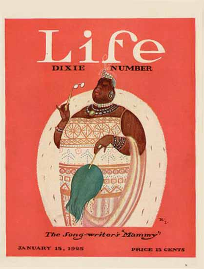 Roaring 1920s Rea Irvin Life Humor Magazine 1925-01-15 Copyright | Roaring 1920s Ad Art and Magazine Cover Art