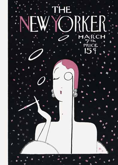Roaring 1920s Rea Irvin The New Yorker 1925_03_07 Copyright | Roaring 1920s Ad Art and Magazine Cover Art